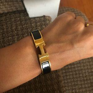 Gold/black Hermès bracelet 😍